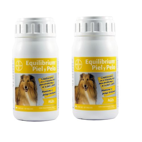 2 Frascos Vitaminas Bayer Equilibrium Ages Piel Y Pelo