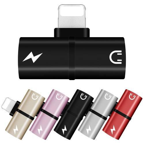 Adaptador 2 En 1 Carga Y Audio (audífonos) Iphone 7 8 X
