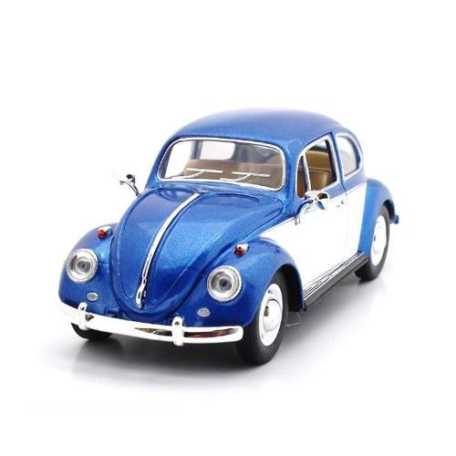Azul Y Blanco Volkswagen Beetle  Vocho Escala 1:24
