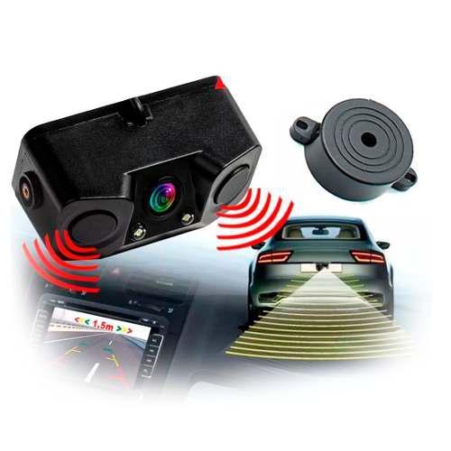 Camara Con Sensor De Reversa Doble Rca