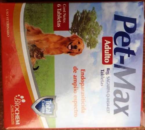 Desparasitante Pet Max 1 Tableta Hasta 10 Kg Perros Y Gatos