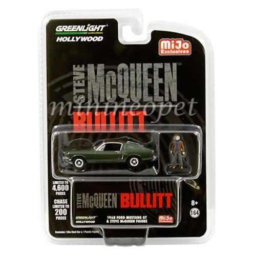 Ford Mustang Gt Mcqueen Bullitt Greenlight 1:64 Figura