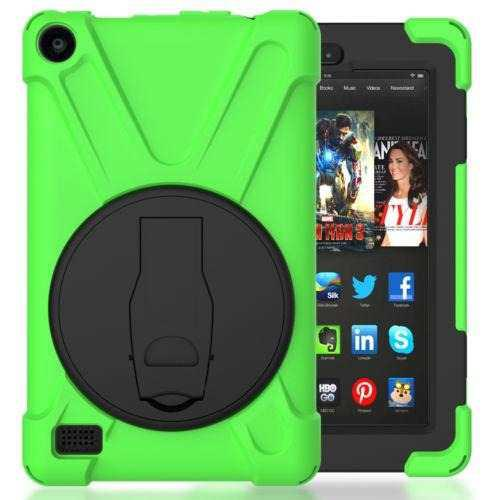 Green - Amazon Kindle Fire 7 5th Gen - Pata De Cabra A-5636