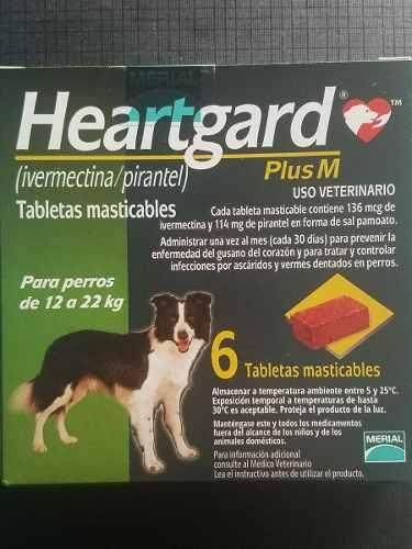 Heartgard Plus M Perros 12 A 22kg 6 Masticables