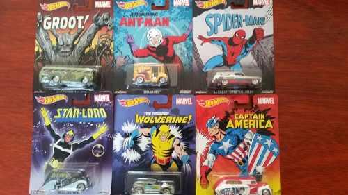 Hot Wheels Pop Culture Marvel Serie Completa Envio Gratis