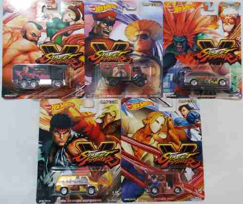 Hot Wheels Pop Culture Street Fighter Capcom Serie Completa