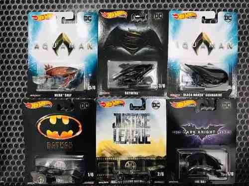 Hot Wheels Retro Set De 6pz Dc Cómics Aquaman Batman