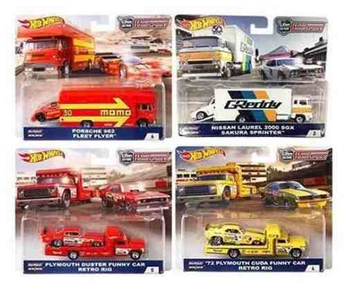 Hot Wheels Transport Serie Completa Llantas De Goma