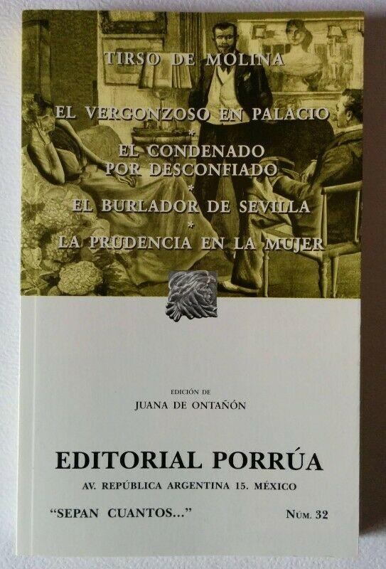 Libro Tirso de Molina El Vergonzoso en Palacio, El