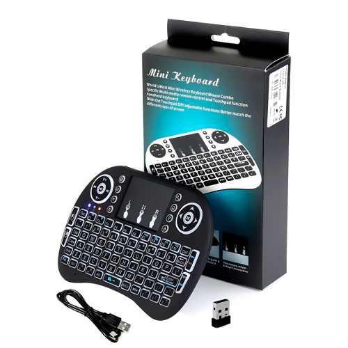 Mini Teclado Inalambrico Android Iluminado Tvbox Smart Tv