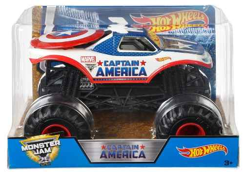 Monster Jam Hot Wheels 1:24 Capitan America 18 Cm