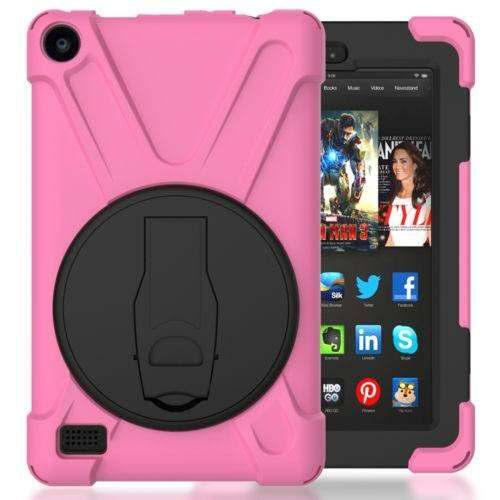 Pink - Amazon Kindle Fire Hd 8 2016 - Pata De Cabra A -5646