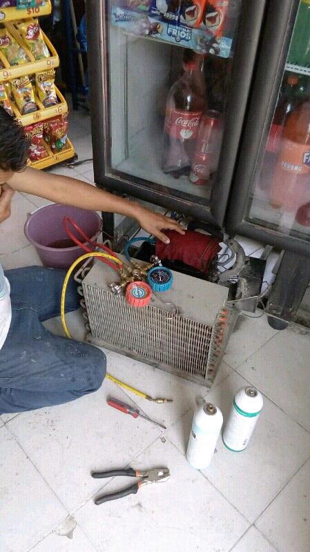 REPARACIÓN de refrigeradores y neveras.CARGA DE GAS