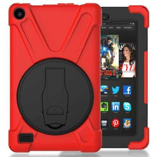 Red - Amazon Kindle Fire 7 5th Gen - Pata De Cabra A P-5638