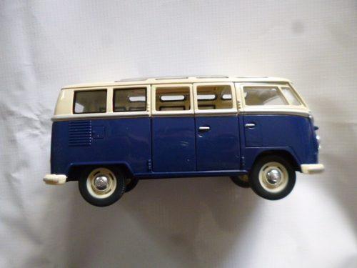 Vw Combi  Esc: 1/24 Kinsmart Auto Coleccion Azul