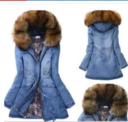 Chamarra Cazadora Mezclilla Frio Moda Fashion Premium