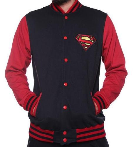 Chamarra Colegial Superman Superboy Dc Comics Original $420