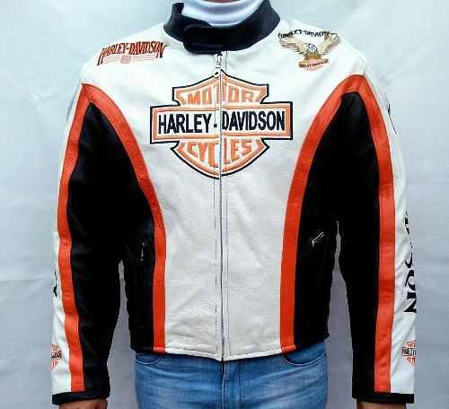 Chamarra De Piel De Excelente Calidad Tipo Harley Davidson
