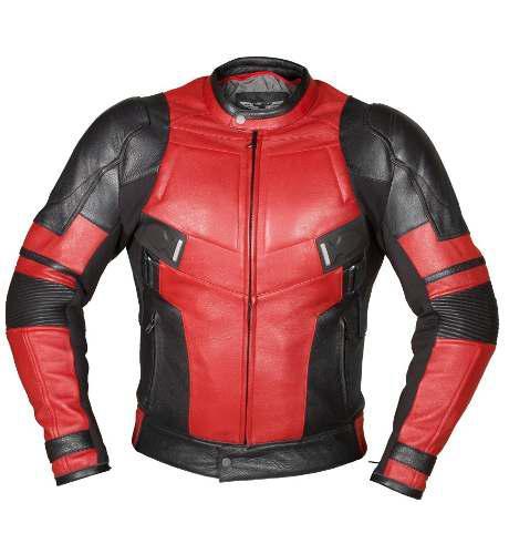 Chamarra De Piel Heron Estilo Deadpool Rider Protecciones