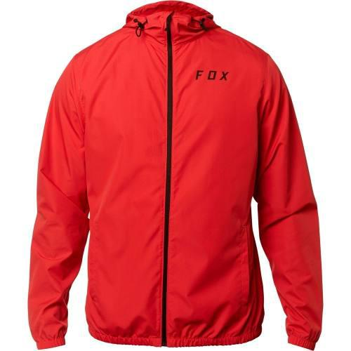 Chamarra Fox Rompevientos Semi Impermeable Attacker Mtb Rojo