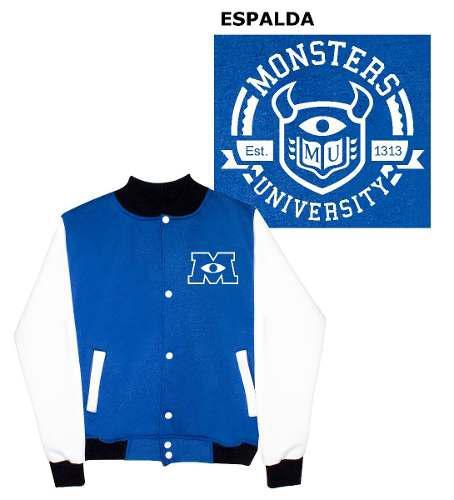 Chamarra Monsters Inc University Colegial Varsity Jacket
