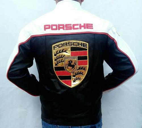 Chamarra Porsche De Piel De Excelente Calidad!