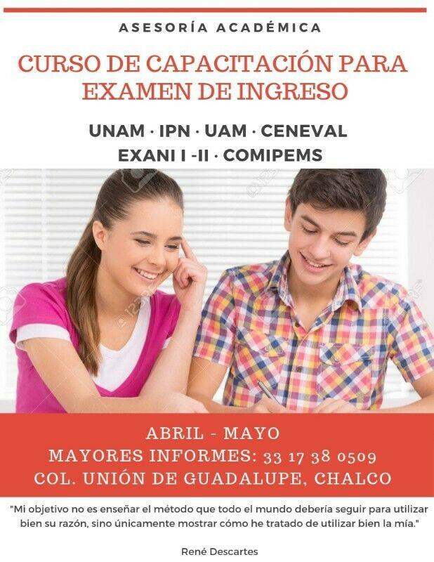 Curso de Capacitación para Examen de ingreso.