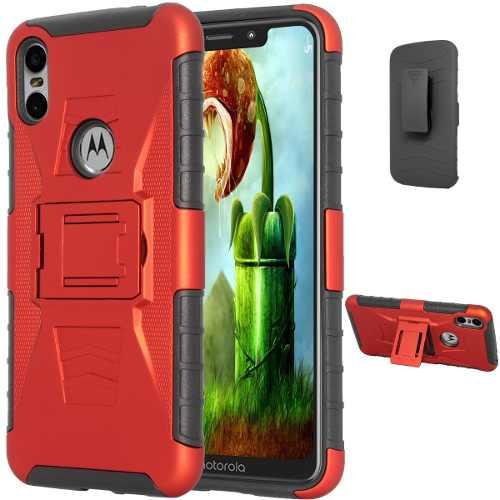Funda Clip Motorola One P30 + Cristal Templado Protector