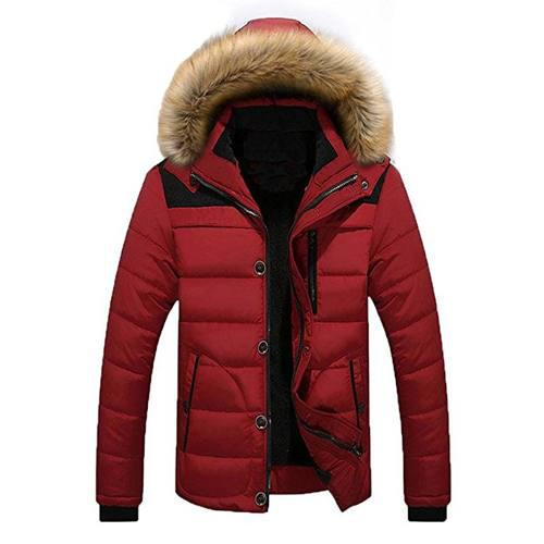 Moda Hombres ' S Invierno Caliente Chaqueta Nuevo Anorak Coa
