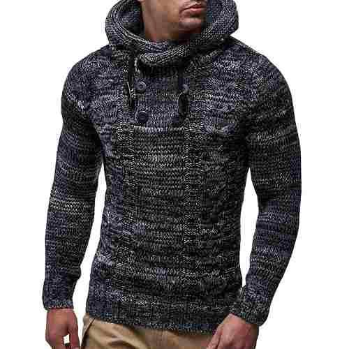Suéter De Los Hombres Hemiks Casual Otoño Invierno Chaquet