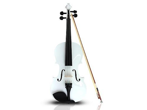 Violin Musical 4/4 Con Estuche Y Accesorios Color Blanco