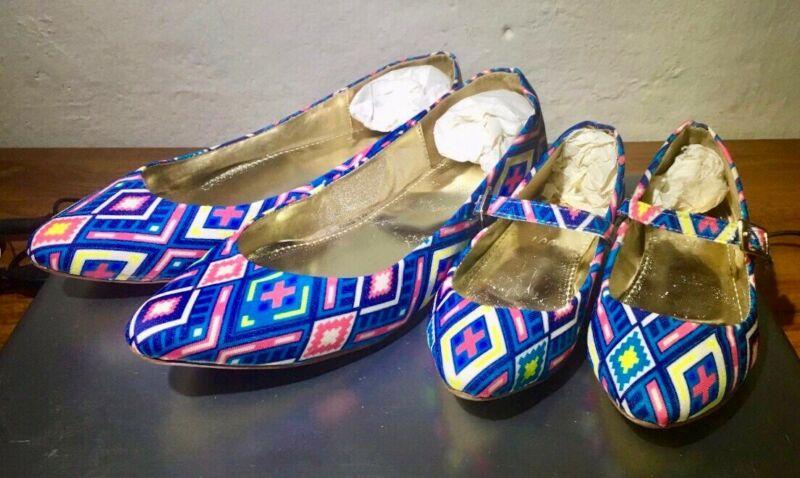 Zapatos Flats Dúo Madre e Hija Talla 24 de Mujer y 15 de