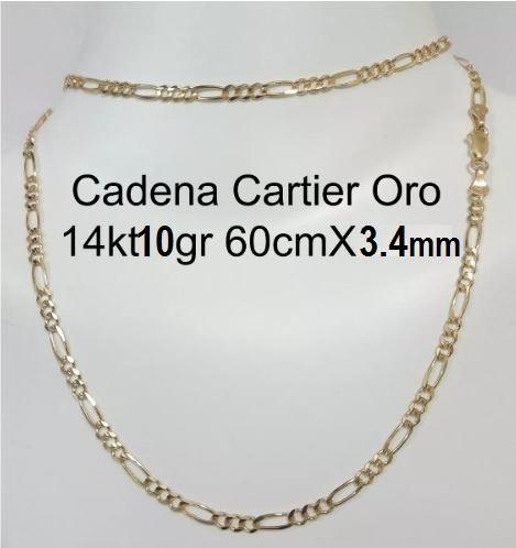 Cadena 3x1 Oro Macizo 14k 60cm X 3.4mm Pesa +/-10gr
