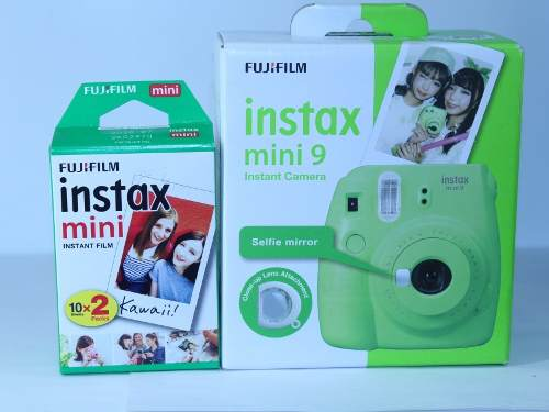 Camara Fuji Instax Mini 9 Verde Lima + 20 Peliculas Nueva