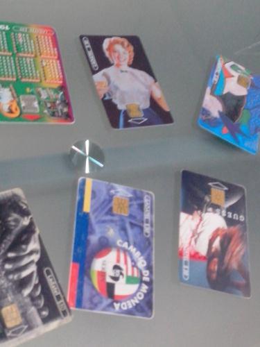 Colección 7 Tarjetas Telefónicas Ladatel 98-2004