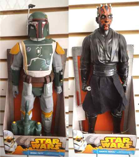 Darth Maul Y Boba Fett 18 Pulgadas Star Wars Jakks Pacific