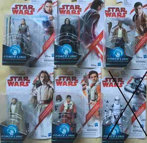 Figuras Star Wars Force Link, Kylo Ren, Rey, Precio C/u