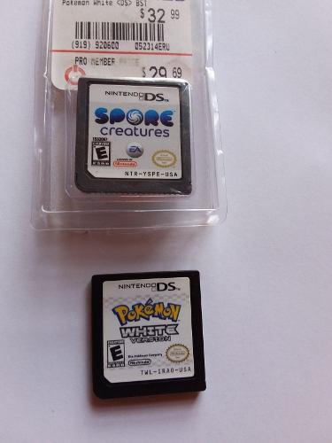 Juego Nuevo Spore Creatures, Usado Pokemon White Versión Ds