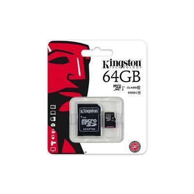 Kingston Tarjeta De Memoria Microsdxc 64gb Clase 10 G2 C/ada