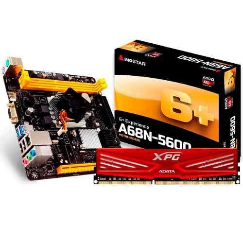 Kit Actualizacion Gamer Amd A10 Quad Core 8gb Radeon A68n-56