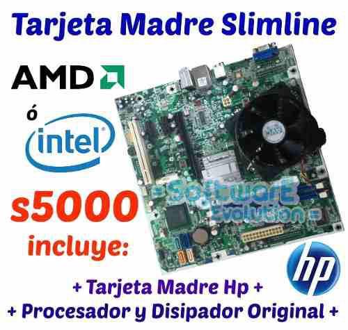 Kit Tarjeta Madre Hp Slimline S5000 C/ Procesador Y Memoria