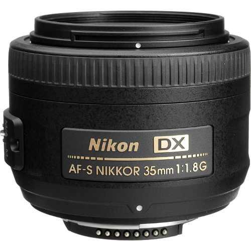 Lente Nikon Af-s Dx 35mm F/1.8g Hasta 18 Cuotas S/int