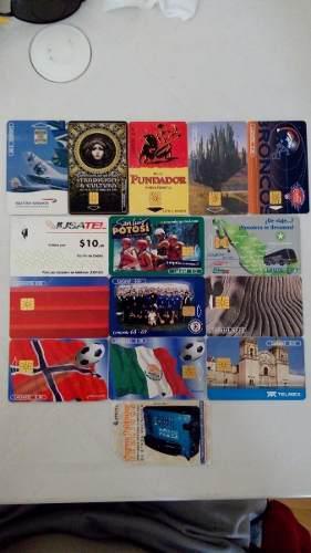 Lote 15 Tarjetas Telefónicas Telmex, Iusacel, Etecsa Ofrece