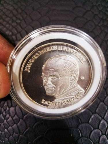 Medalla Plata Del Papa Juan Pablo Segundo