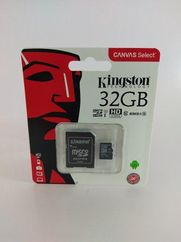 Memoria Micro Sd 32 Gb Clase 10 Kingstone