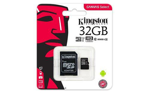 Memoria Micro Sd 32gb Clase 10 Kingston 80r Original Mayoreo