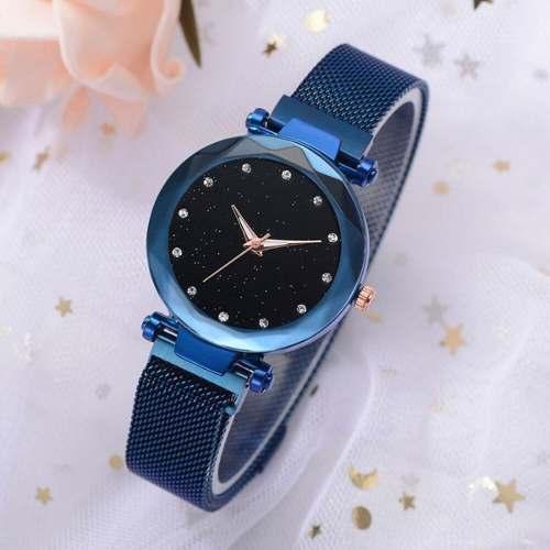 Reloj De Imán, Reloj Magnético, Azul Eléctrico