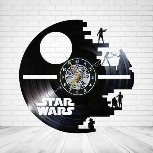 Reloj Vinil De Pared Estrella Star Wars. El Mejor Precio!