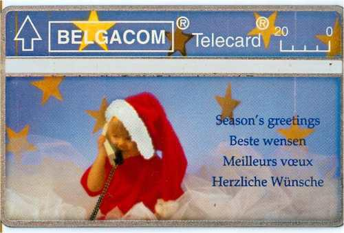 Tarj Belgica Tarjeta De Navidad Del 95