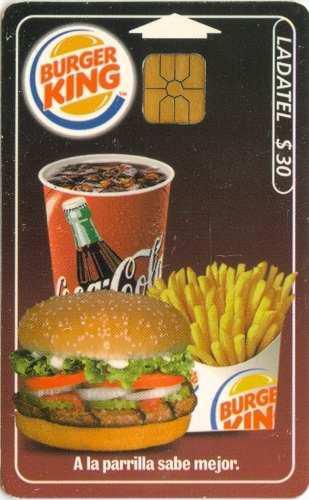 Tarj Burger King Con Chip Gd